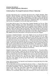 1 Amnesty International Former Yugoslav Republic of Macedonia ...