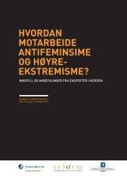Reforms rapport om arbeid mot antifeminisme og ... - NRK