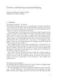 Cittaslow, social kapital og sociospatial planlægning