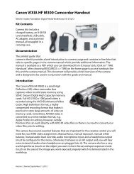 Canon VIXIA HF M300 Camcorder Handout - MassArt Studio ...