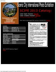 SCIPE Catalog - Photographic Society of Chattanooga