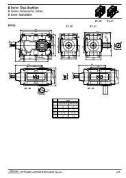 B Serisi Ölçü Sayfaları B Series Dimensions Tables B Serie ...