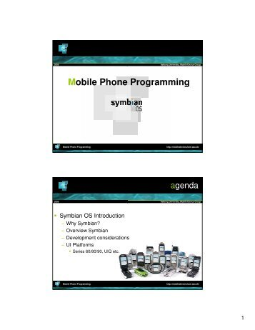 Symbian OS - Mobile Devices