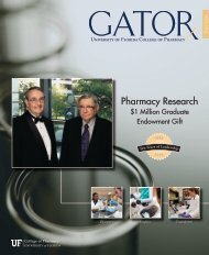 Pharmacy Research - College of Pharmacy - University of Florida