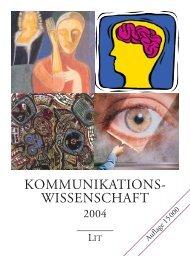 Kommunikationswissenschaft 2004