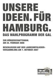 DAS WAHLPROGRAMM DER GAL - des Deutschen Hanf Verband