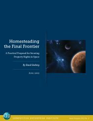 Homesteading the Final Frontier - Competitive Enterprise Institute