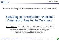 Quick Forwarding - Karlsruher Institut für Technologie (KIT) - Institut ...