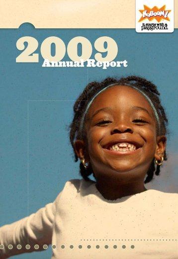 KaBOOM! 2009 Annual Report