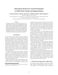 Information Markets for Social Participation in Public Policy Design ...