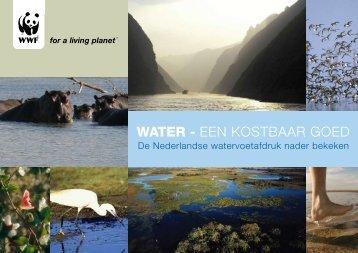 WATER - EEN KOSTBAAR GOED - De watervoetafdruk