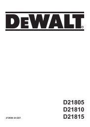 D21805 D21810 D21815 - Service - DeWalt