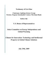 Govi Rao - The Select Committee for Energy Independence and ...