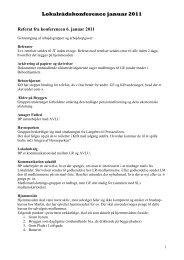 Referat af lokalrådskonference januar 2011 - Islandsbrygges Lokalråd