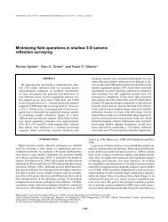 Minimizing field operations in shallow 3-D seismic ... - Geophysics