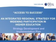 Access to Success Strategy - University of Ulster