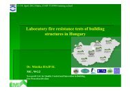 Laboratory fire resistance tests of building structures in Hungary