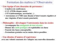 Fichier PDF. - Formation et Enseignement à l'Observatoire de Paris