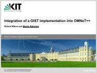 Integration of a GIST implementation into OMNeT++ - KIT