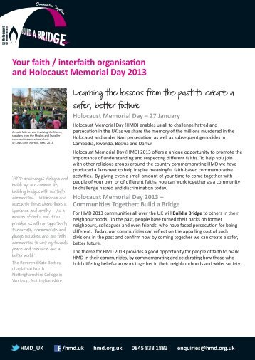 Your faith - Holocaust Memorial Day Trust