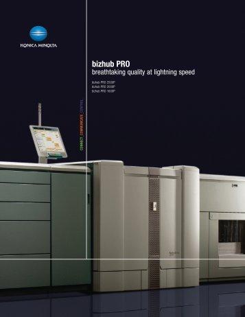 bizhub PRO - MCS Office Products