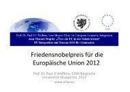 Friedensnobelpreis für die Europäische Union 2012 - EIIW