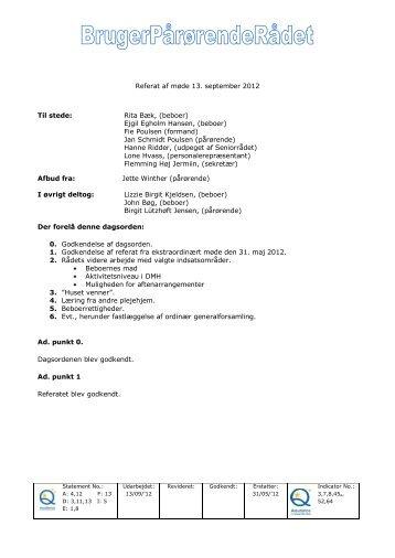 BPR september 2012 - Mariehjemmene