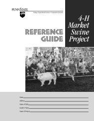 4-H Market Swine Project - Penn State University