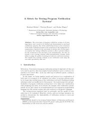 A Metric for Testing Program Verification Systems⋆ - KIT