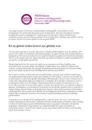 Det globale paradigmeskift - NGO Forum
