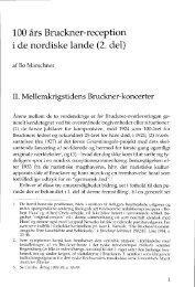 100 års Bruckner-reception i de nordiske lande (2. del)