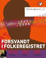 Socialrådgiveren nr. 5-2010 - Dansk Socialrådgiverforening