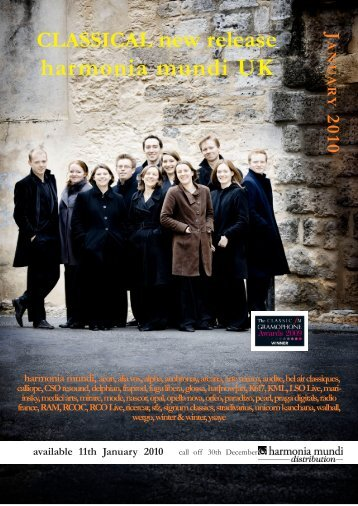 CLASSICAL new release harmonia mundi UK available 11th ...