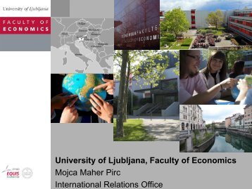 University of Ljubljana, Faculty of Economics Mojca ... - Open DC