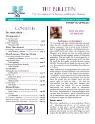 THE BULLETIN - Index of - Special Libraries Association