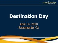 04.14.10 Destination Day - the California Tourism Industry Website
