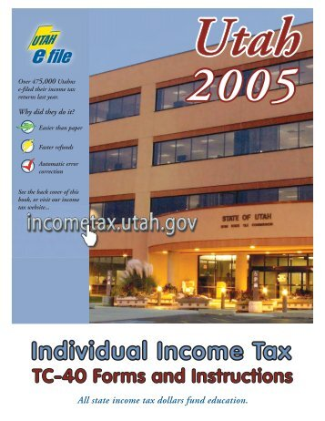 2009 Individual Income Tax Tc 40 Forms Instructions