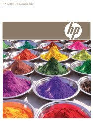 HP Scitex UV Curable Inks