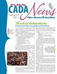 The value of student activities - CADA