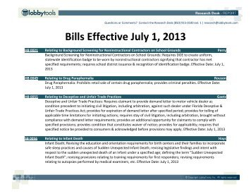 Bills Effective July 1, 2013 - Amazon Web Services