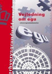 Vejledning om egu - erhvervsgrunduddannelse - Ministeriet for Børn ...