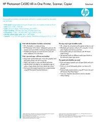 HP Photosmart C4580 All-in-One Printer, Scanner, Copier