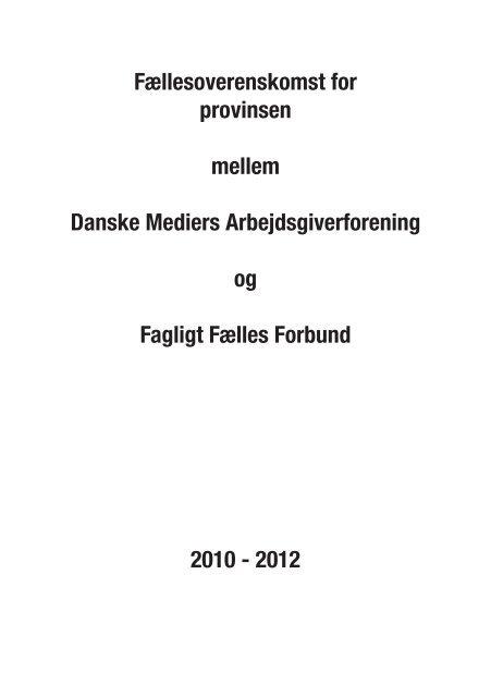 Overenskomsten 2010-12 - Pakkeriklubben