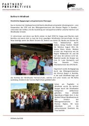 Berliner in Windhoek - EPIZ Entwicklungspolitisches Bildungs