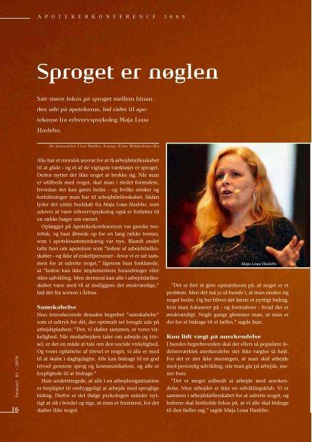 Årets Apotek 2009 Side 6 - 9 Apotekerkonference Side 10 - 21 - Elbo