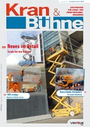 Kran & Bühne, Dezember/Januar 2005: Titelseite