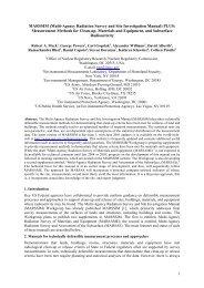 MARSSIM (Multi-Agency Radiation Survey and Site ... - IRPA