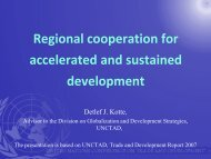 Regional cooperation for accelerated and sustained development