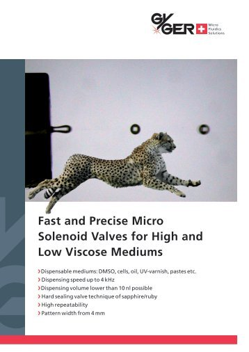Fast and Precise Micro Solenoid Valves for High ... - Fritz Gyger AG