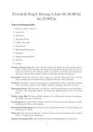 Protokoll StugA Sitzung 5.Juni 08 19:30Uhr bis 21:00Uhr